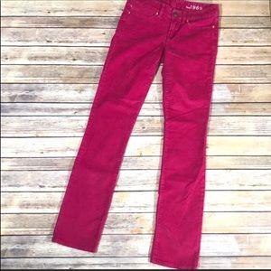 GAP pink straight leg corduroy pants size 25